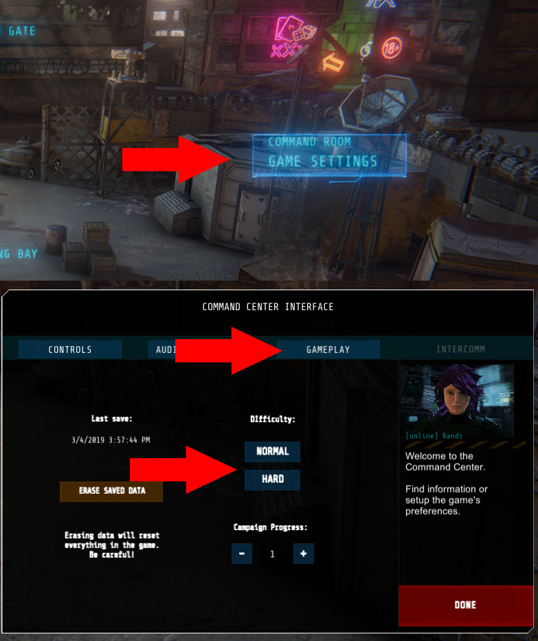 Armed to the Gears: How to Select Difficulty