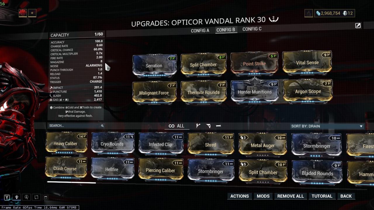 Warframe: Best Build for Opticor Vandal