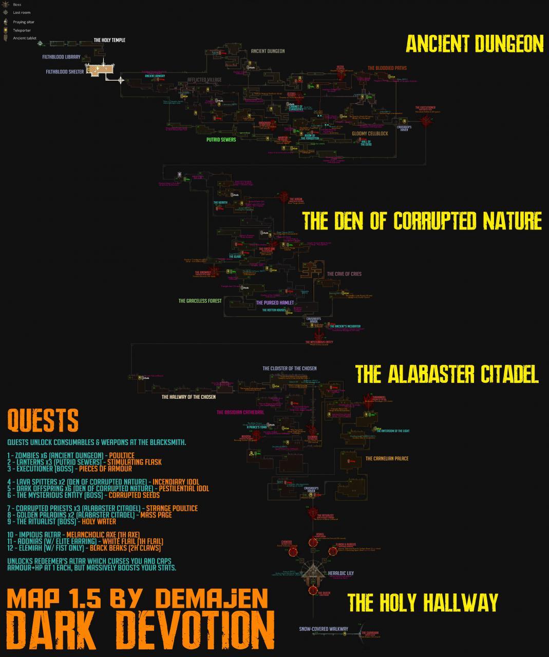 Dark Devotion: 100% Map Guide