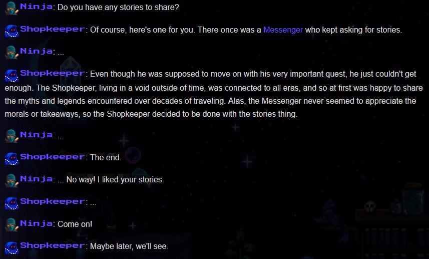 The Messenger: All Easter Eggs in Shopkeeper's Story