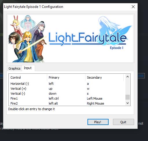 Light Fairytale Episode 1: How to Change Keybindings