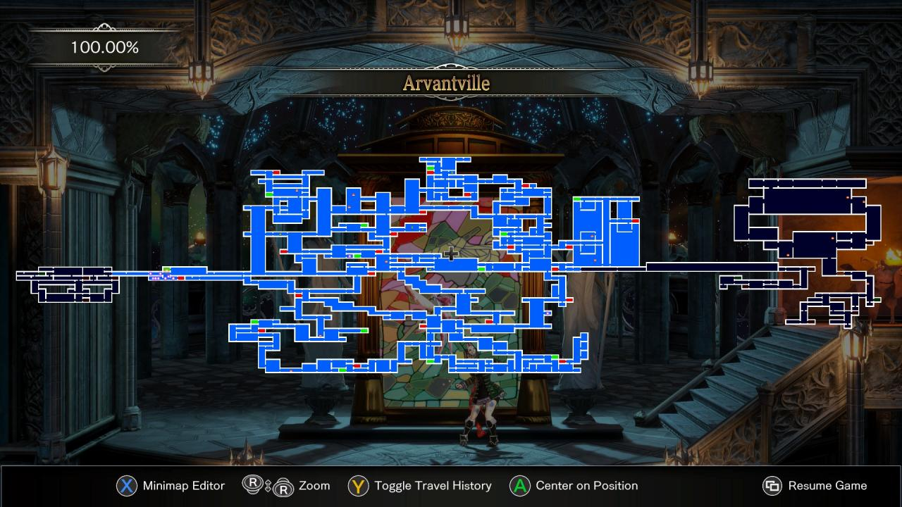 Bloodstained: Ritual of the Night - Full Game Level Map