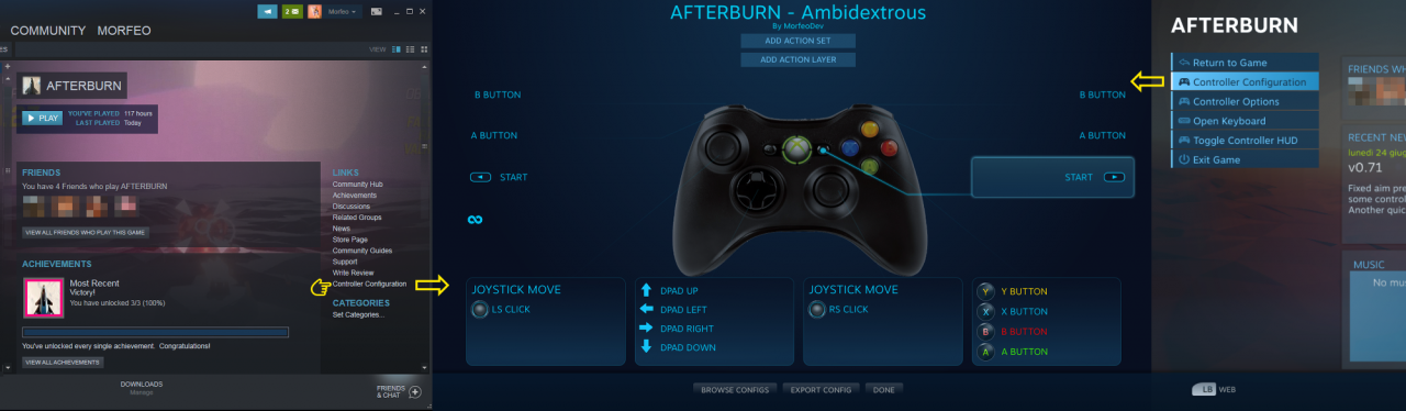 AFTERBURN: Controller Customized Guide