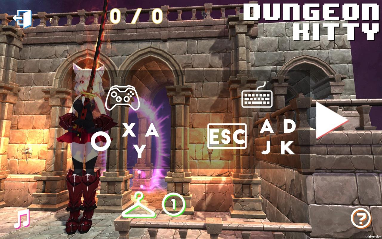 Dungeon Kitty: Keyboard Controls Guide