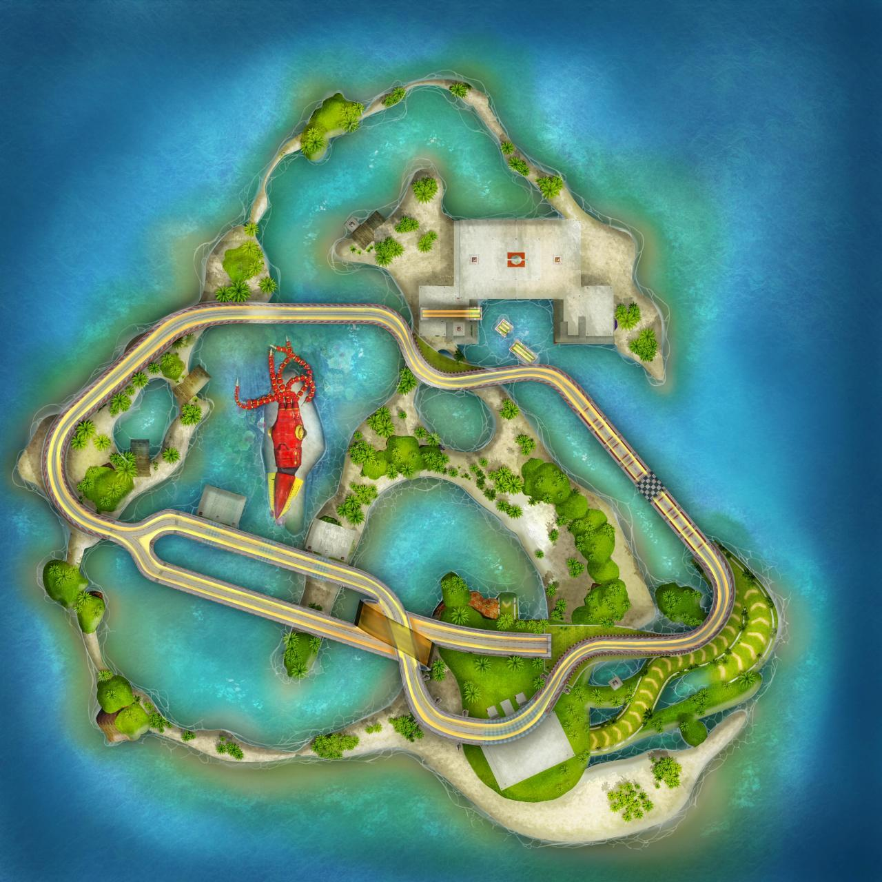 Sonic & All-Stars Racing Transformed Collection - All Maps