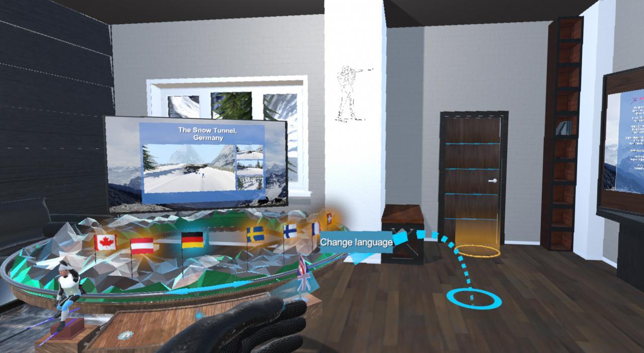 Biathlon Battle VR: How to Move on the Menu