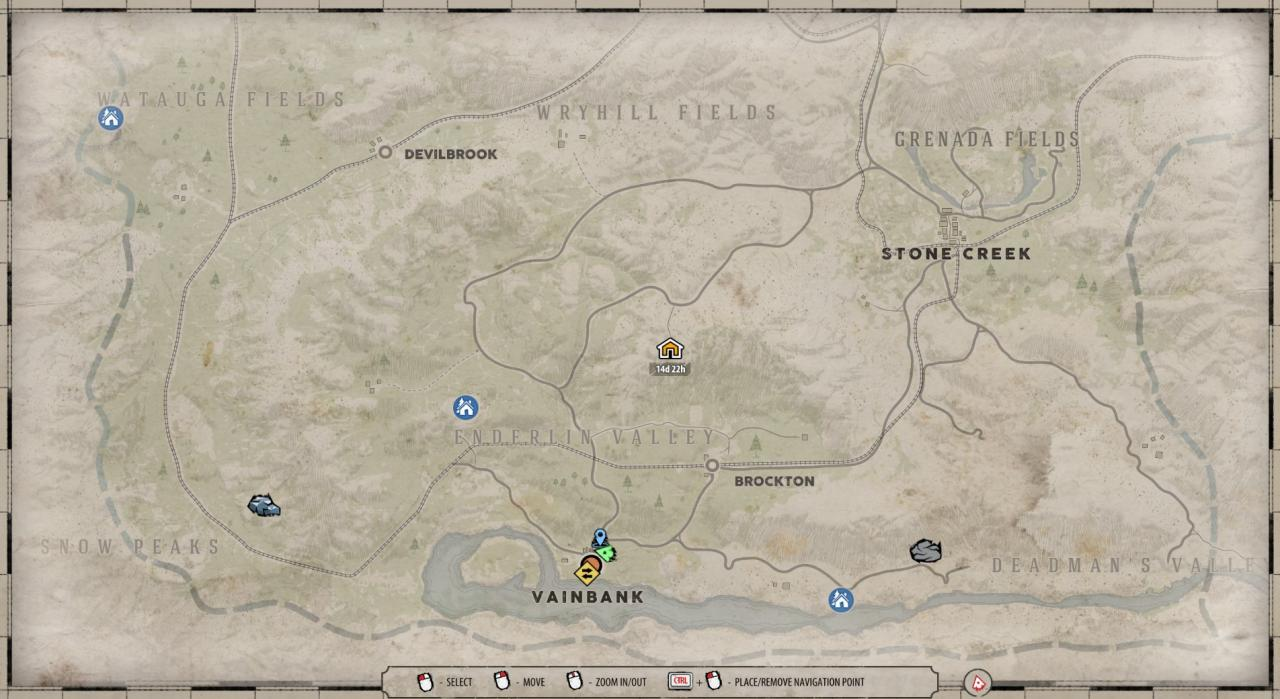 New Frontier: Map Locations Guide