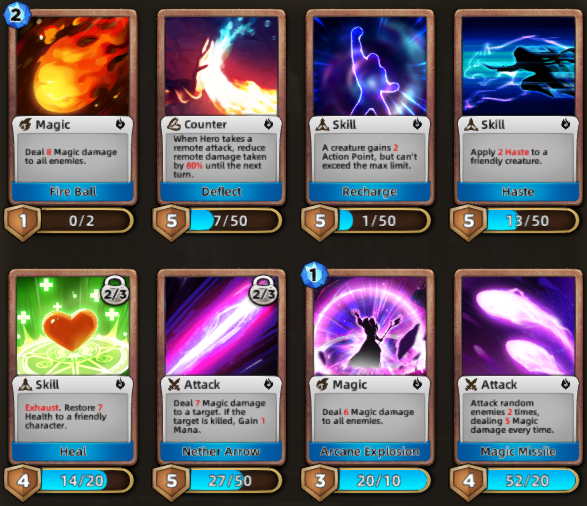 Born of Fire: All Card Lists