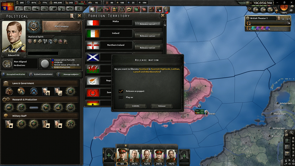 Hearts of Iron IV: William Wallis Achievement Guide