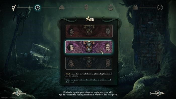 Stygian: Reign of the Old Ones - Character Creation and Inventory