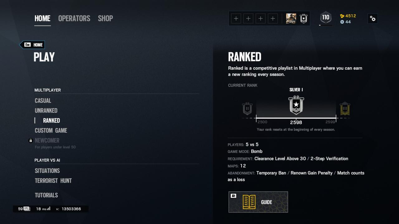 Rainbow Six Siege: How to Get Gold Rank