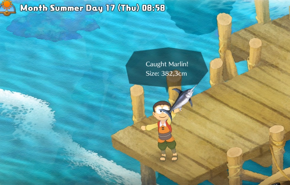 DORAEMON STORY OF SEASONS: How to Catch Marlin
